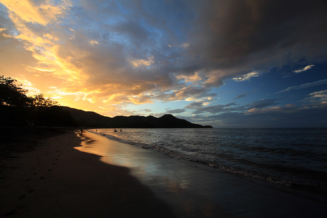 Sunset on a Pacific beach in Costa Rica