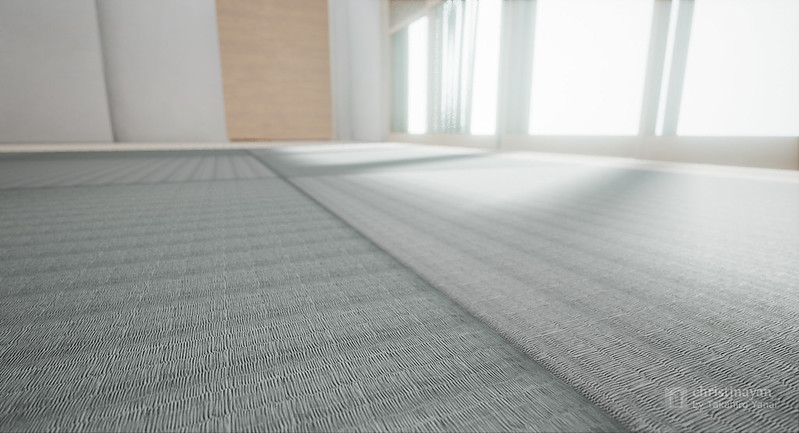 Zoom up for tatami mat of 3rd Japanese Room (純和室っぽい部屋6)