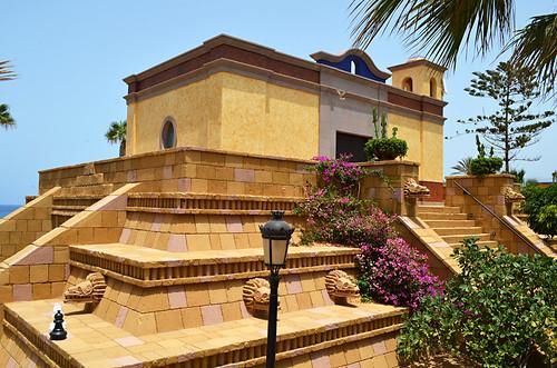 Mayan Pyramid, Hotel Villa Cortes, Playa de las Americas, Tenerife
