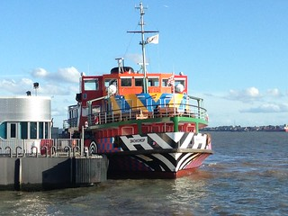 Dazzle ship in Liverpool