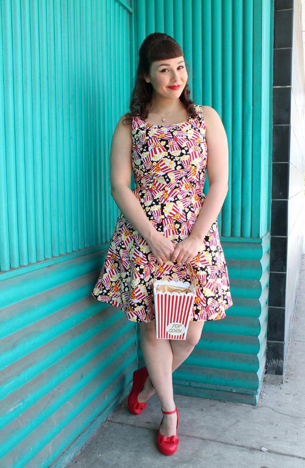 popcorn dress retrolicious