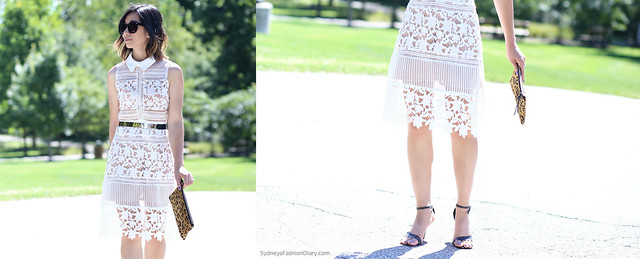 White Graciella Paneled Lace Dress Dup_SydneysFashionDiary