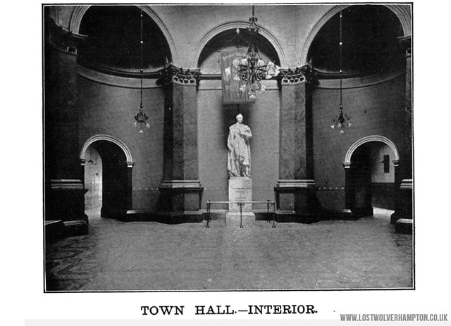The statue of George Thorneycroft , pictured in the foyer of the Town Hall having recently been re-located here from Merridale Cemetery.