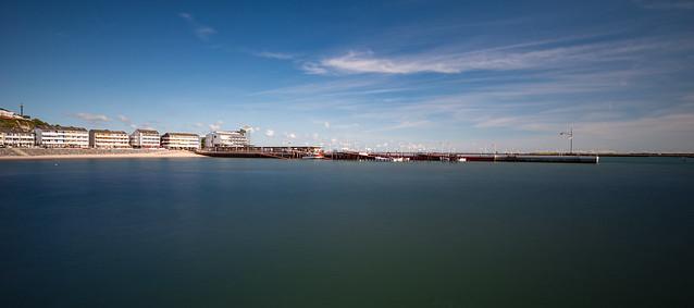 Die Landungsbrücke von Helgoland