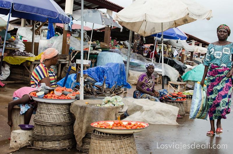 sin mirar por el visor en el mercado de Kara