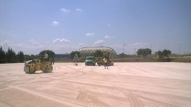 Rutigliano-Lavori al campo di Via Adelfia fase 2 - foto Sport Centre Rutigliano