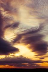 Swirls in the morning sky