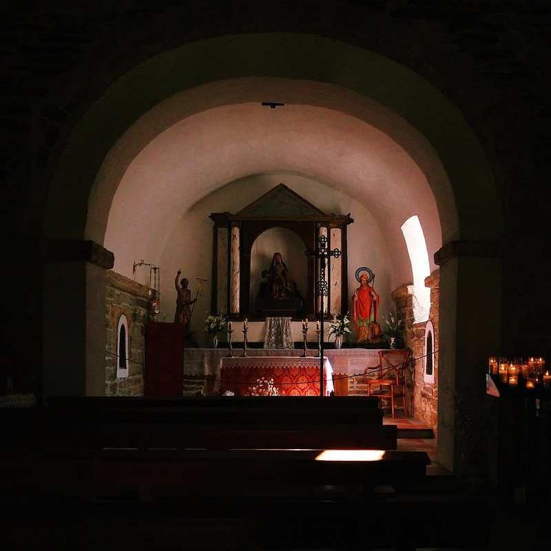 Inside a tiny Spanish church on the Camino