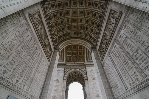 Inscriptions inside the Arc de Triomphe