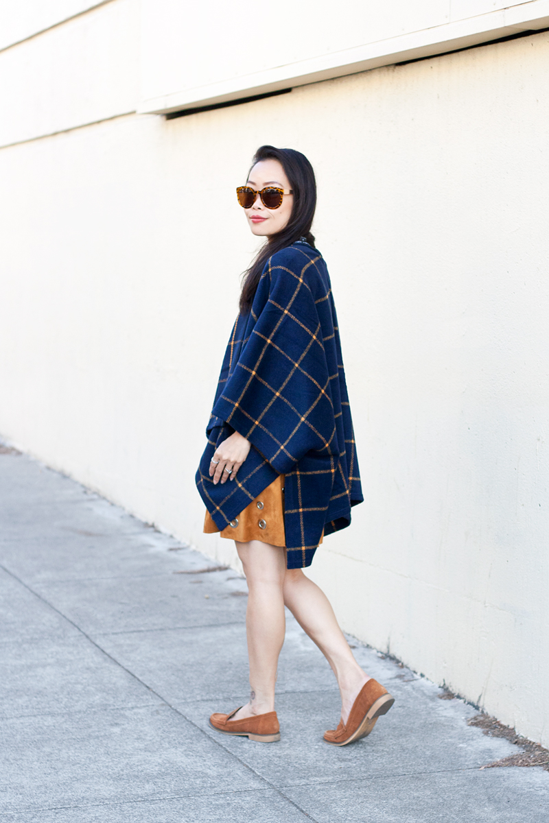 06-plaid-poncho-suede-grommet-skirt
