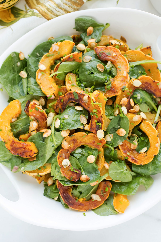 Delicata Squash Salad, up close