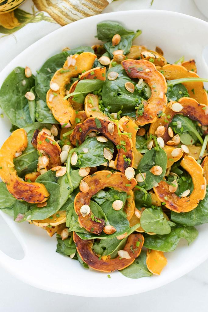 Delicata Squash Salad, up close