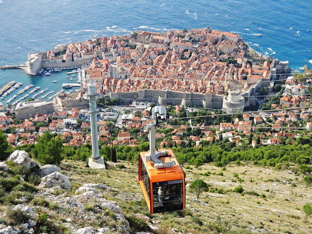 Cable Car, Dubrovnik, Dalmatia, Croatia