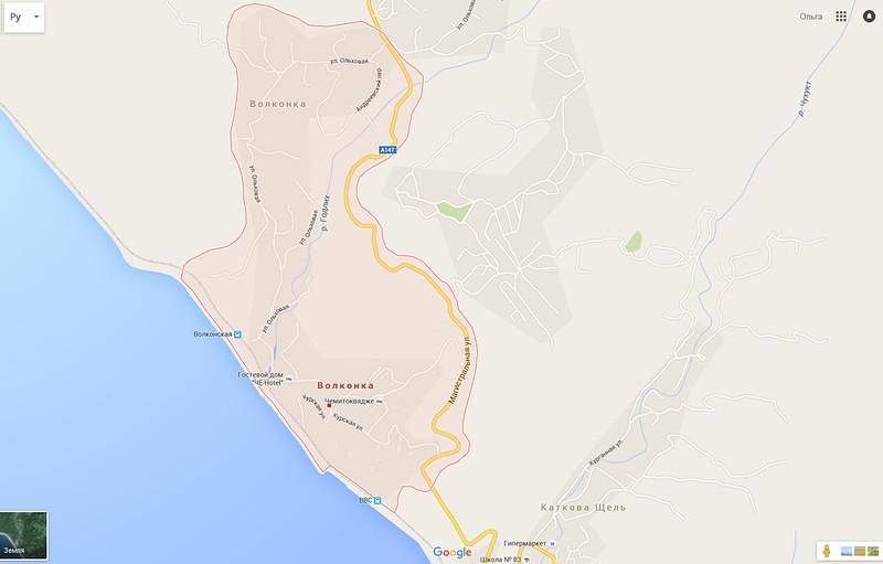 карта волконка