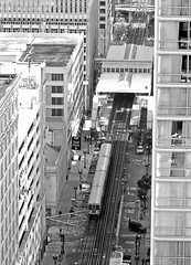 The Loop from Above Black and White