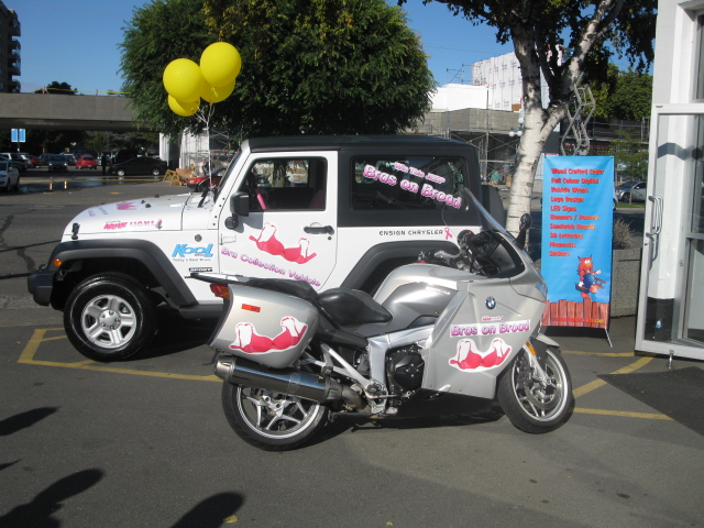 Bras on Broad vehicle graphics