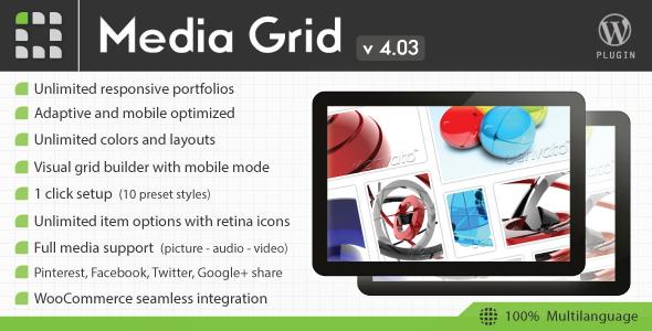 CodeCanyon Media Grid v4.03 - Wordpress Responsive Portfolio