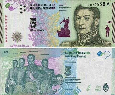 5 Pesos Argentína 2015