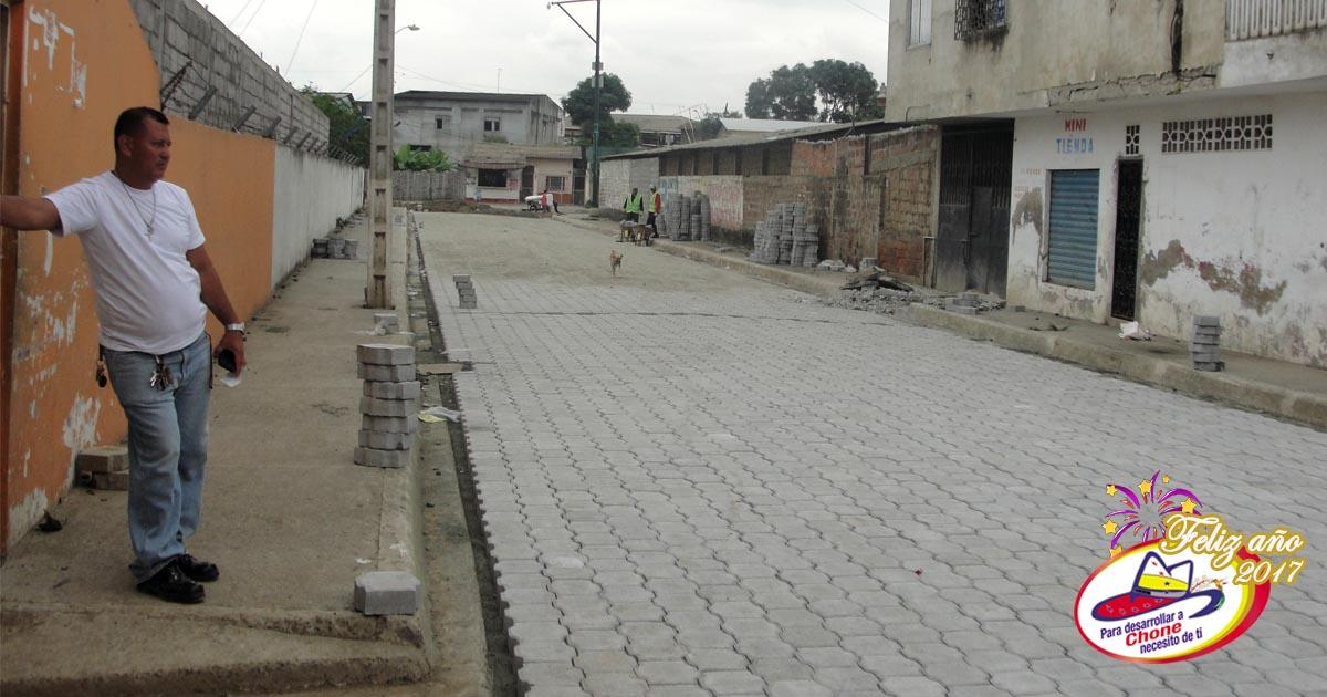 A buen ritmo avanzan los trabajos en calle Galápagos
