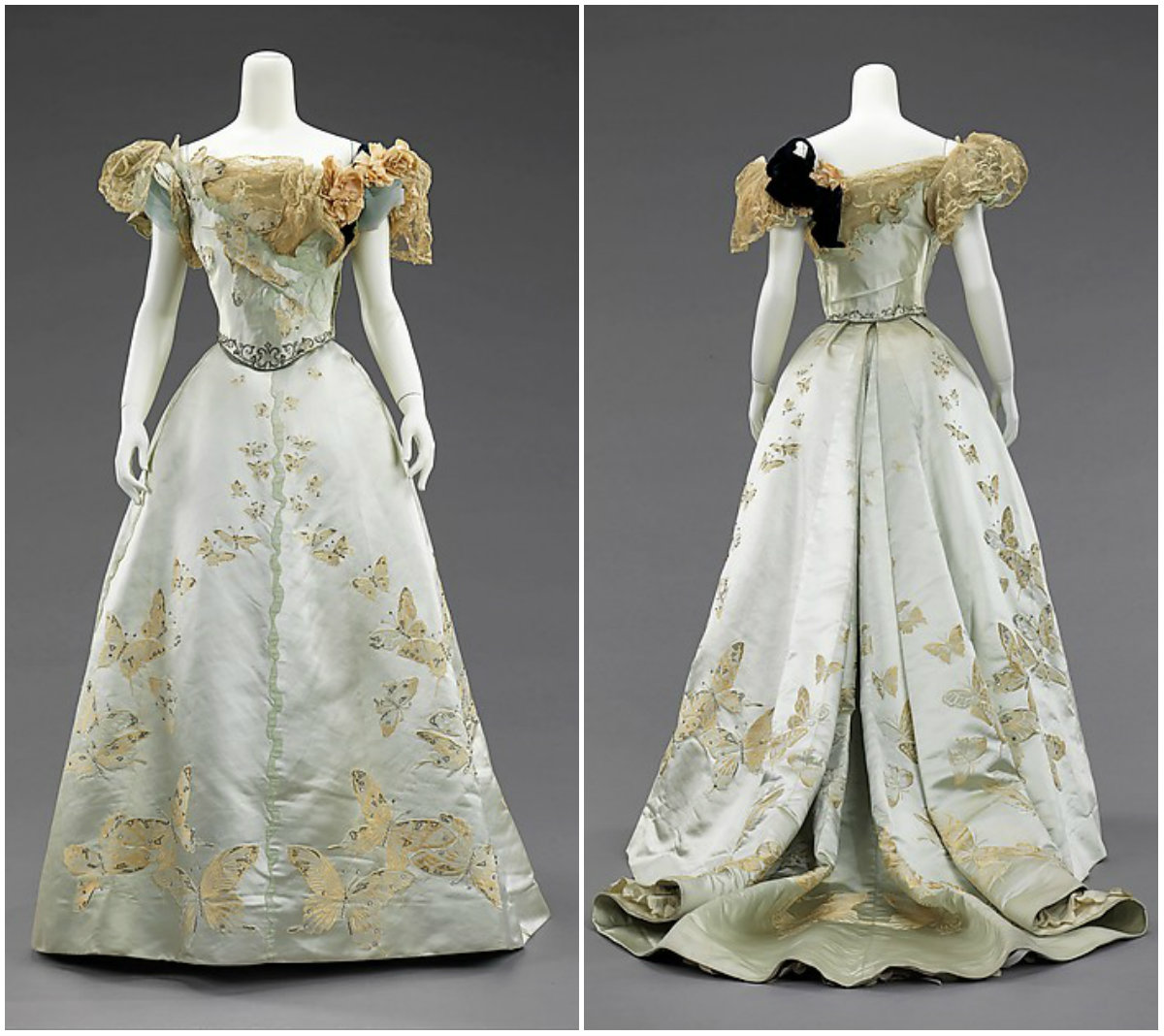 1898. Ball Gown. Silk, rhinestones, metal. metmuseum