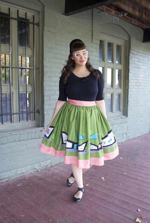 midcentury house skirt