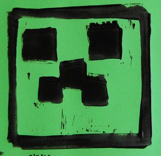 5 Durer - Block Printing - Creeper - AB