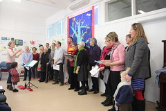 Brunswick Rogue Choir at Tree of Faith banner launch Fawkner Community House