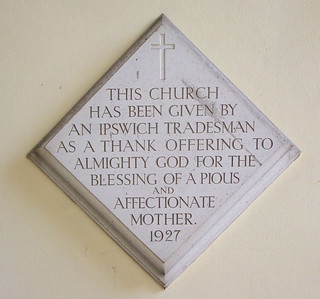 this church has been given by an Ipswich tradesman
