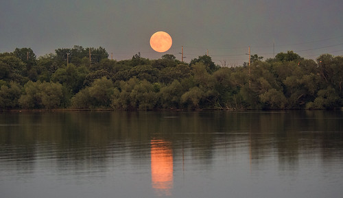 Blue Moonrise in Minnesota
