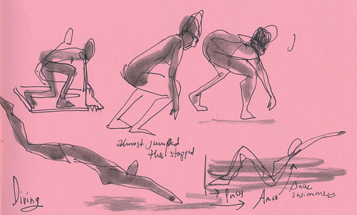 Sketchbook #91: More Swimming