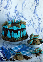 Cookie Monster Chocolate Layer Cake