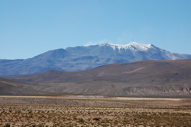 Beautiful Landscape of the Altiplano, near Parque Nacional Isluga, Tarapacá, Chile