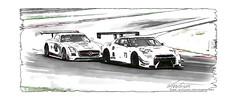 Nissan GT-R Nismo GT3 Pencildrawing by www.autozeichnungen.net