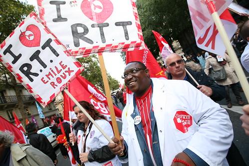 Manifestation des personnels de santé de l'AP HP