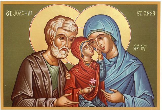 San Joaquín, Santa Ana y la Virgen