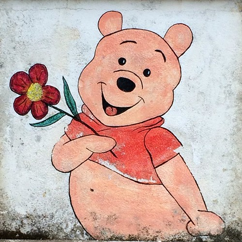 Pooh giving Milton comfort