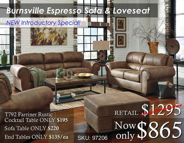 Burnsville Espresso SofaLove