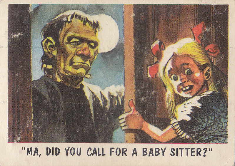 """""""You'll Die Laughing"""" Topps trading cards 1959,  illustrated by Jack Davis (05)"""