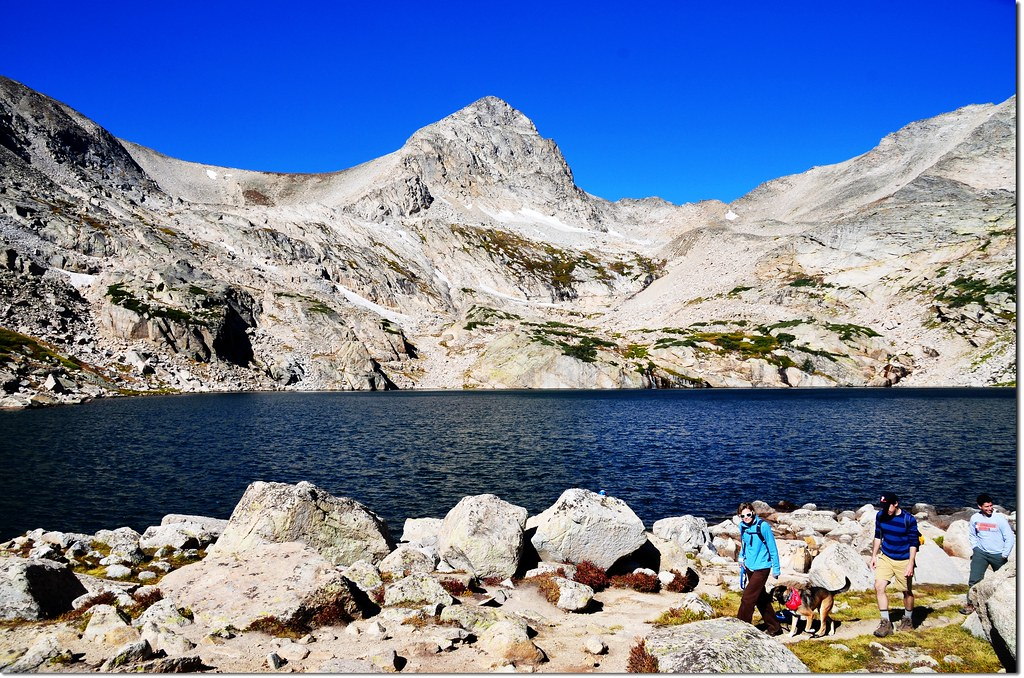 Blue Lake, background is Mount Toll 1