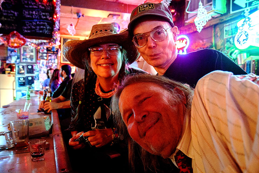 Karen, Bruce and Lowry at Dirty Frank's--Center City