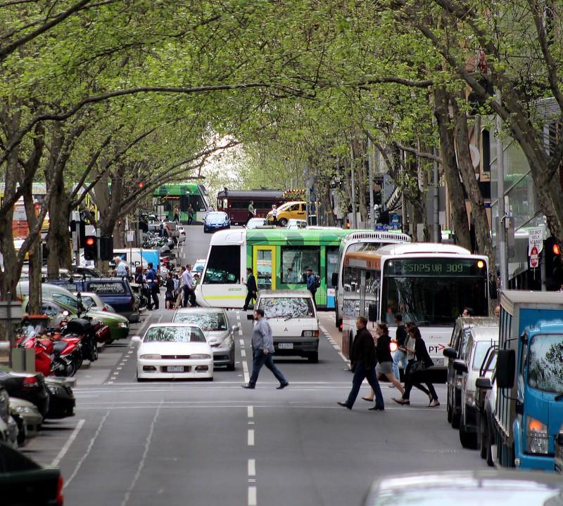 Looking north up Queen Street, Melbourne