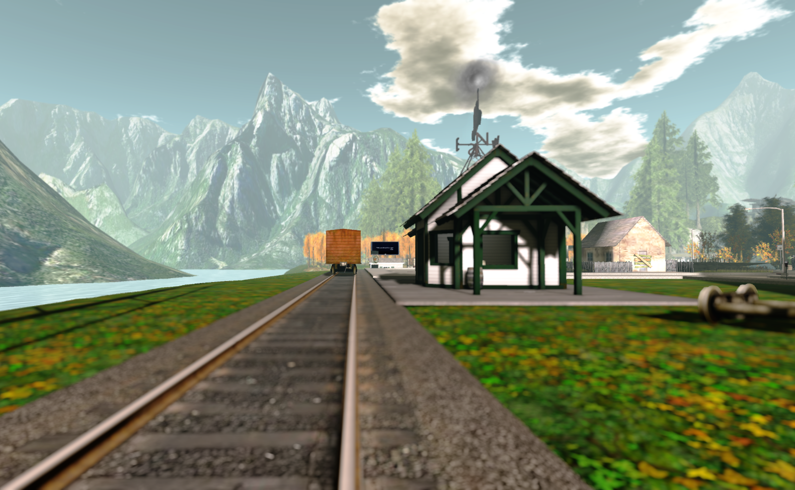 The train station at the town of Brazen Fair Ends