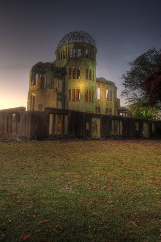 A-Bomb Dome at Hiroshima in early evening on OCT 28, 2015 (22)