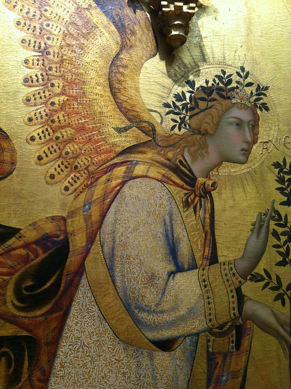 Simone Martini and Lippo Memmi angel of the Annunication