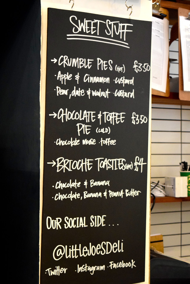 Dessert Menu at Little Joe's Deli, Canterbury | www.rachelphipps.com @rachelphipps