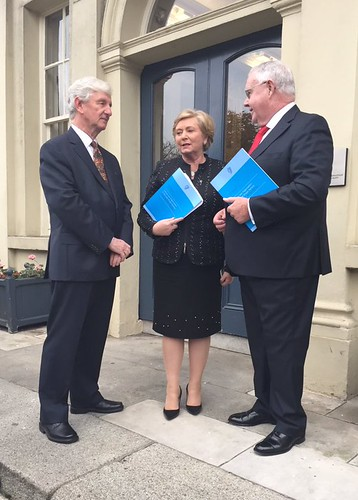 L-R: Professor Coyle, Minister Fitzgerald and Inspector of Prisons Judge Michael Reilly launching the Prison Culture Report