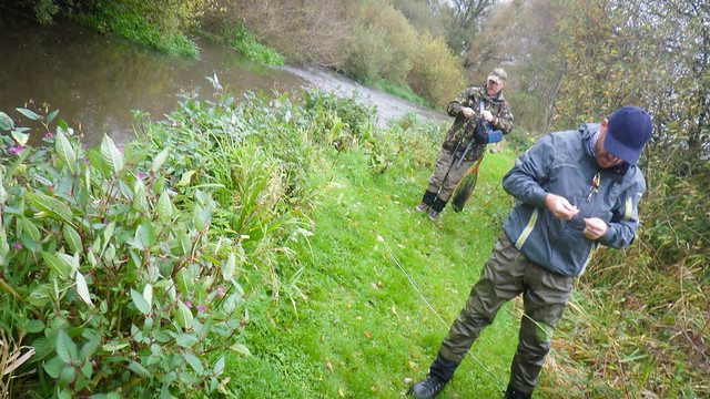 Grayling fishing with Paul & Si