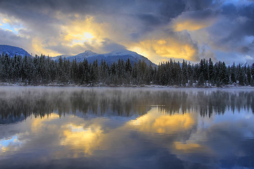 trees lake snow storm mountains weather clouds forest sunrise dawn highway san juan rocky dollar million colroado skyway molas reflecctions