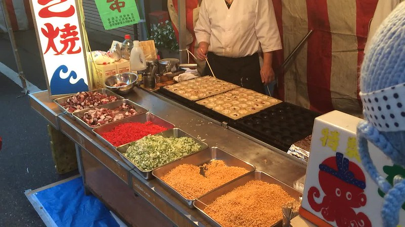 Street Food at Tori-no-ichi Festival in Asakusa