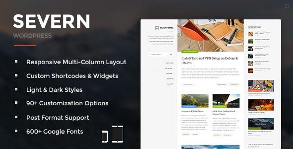 Severn v3.3.0 – Responsive WordPress Blog Theme